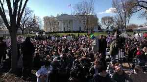 News video: Students Sit in Silence in Front of the White House