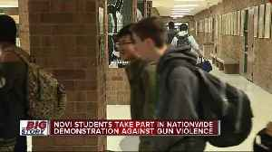 News video: School walkouts happening in metro Detroit, across US