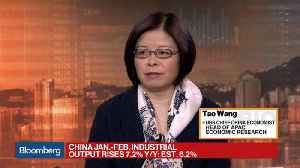 News video: China's Jan.-Feb. Industrial Output Rises 7.2% Y/Y