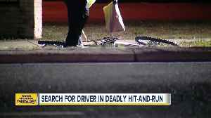 News video: Pinellas Park police search for driver after bicyclist killed in hit-and-run