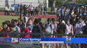 News video: Hundreds Of Students At Coral Springs Walkout
