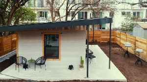 News video: Company develops low-cost 3D printing house