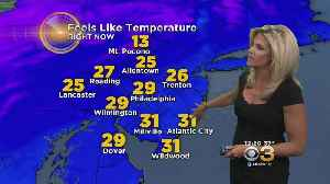 News video: Wednesday Midday Weather Update: Windy With Scattered Snow Showers Or Squalls; Gusts To 30 MPH; High 40