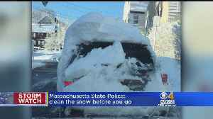 News video: Police Seeing Too Many Snow-Covered Cars On Road After Blizzard