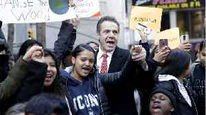 News video: Gov. Cuomo Walked Out With Students Protesting Gun Violence In New York City