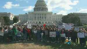 News video: Students Turn Backs On Capitol During Wednesday Walkout