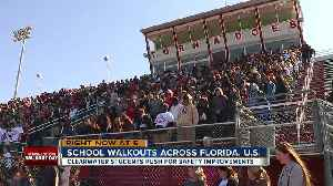 News video: Tampa Bay students walk out of class, demand change