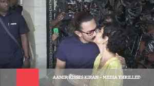 News video: Aamir Kisses Kiran – Media Thrilled