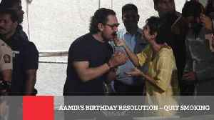 News video: Aamir's Birthday Resolution – Quit Smoking