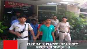 News video: Fake Maids Placement Agency Busted In New Delhi