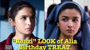 "News video: Alia's LOOK from ""Raazi"" 