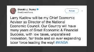 News video: Trump Announces Larry Kudlow For Economic Adviser Role On Twitter