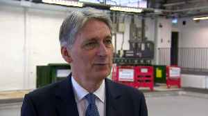 News video: Full-fibre broadband is technology of future says Hammond