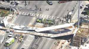 News video: First Responders Rush to Bridge Collapse Near Florida International University