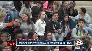 "News video: Beech Grove High School holds ""Walk-In"" in response to gun laws"