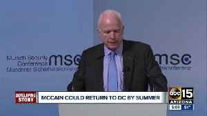 News video: Senator McCain could return to DC by summer
