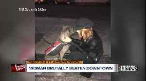 News video: Woman says she was attacked by stranger in downtown Las Vegas