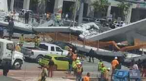 News video: Newly-Built Pedestrian Bridge Collapses Over Busy Miami Roadway