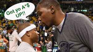 News video: Kevin Durant Has No Time For Isaiah Thomas' FLOP