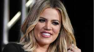 News video: Khloe Kardashian Goes Topless for Good American Maternity Line