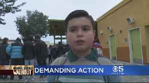 News video: Young Boy Joins San Jose High School Students Protesting Gun Violence In Schools