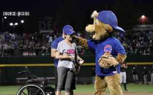 News video: 1 October shooting survivor throws first pitch at Chicago Cubs game