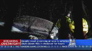 News video: Tow Truck Driver Killed In Multi-Car Crash On 495 in Andover
