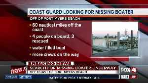 News video: Coast Guard searching for missing boater off Lee County