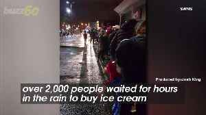 News video: This Ice Cream Truck Is So Popular Thousands Wait for Hours Just to Get a Bite