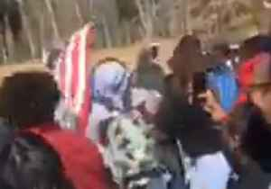 News video: Antioch Students Tear Down US Flag During School Walkout