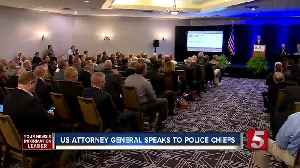 News video: AG Sessions Touts Bump Stock Ban In Nashville