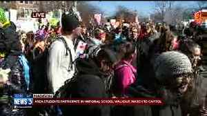 News video: Area students march to Capitol for national school walkout