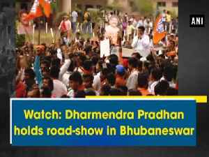 News video: Watch: Dharmendra Pradhan holds road-show in Bhubaneswar