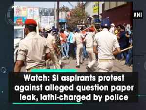 News video: Watch: SI aspirants protest against alleged question paper leak, lathi-charged by police