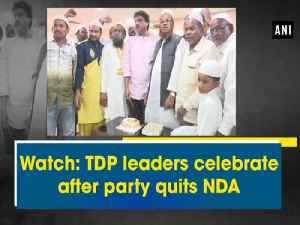 News video: Watch: TDP leaders celebrate after party quits NDA
