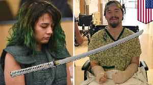 News video: Man miraculously survives girlfriend's katana attack