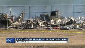 News video: Beaver Dam residents displaced by explosion get some mementos back before fire