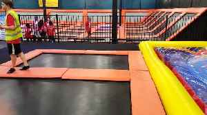News video: Girl Bounces On Trampoline Then Disappears