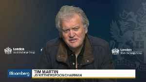 News video: JD Wetherspoon's Martin Says Taxes Are 'The Sword of Damocles' For Pubs