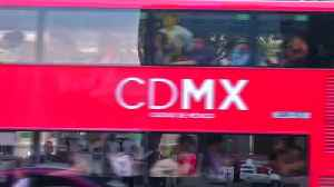News video: British double-decker buses hit Mexico City
