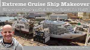 News video: Cruise ship gets sliced in half for extreme makeover