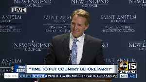 News video: Flake eyes 2020 primary challenge to stop Trump