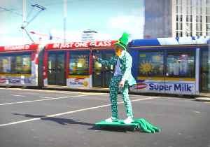 News video: Leprechaun-Hatted Skater Goes on 'Epic' Journey Round Dublin Ahead of St Patrick's Day