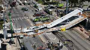 News video: Many Believed Trapped & Out Of Reach Following Florida Bridge Collapse