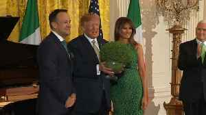 News video: Irish Taoiseach in US for St Patrick's Day