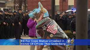 News video: K-9 Statue At Police Academy Pays Tribute To Fallen Officer Thor Soderberg