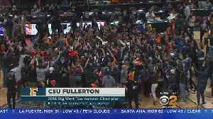 News video: Cal State Fullerton Faces Purdue In First Round Of NCAA Tournament