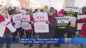 News video: Jersey City Teachers On Strike