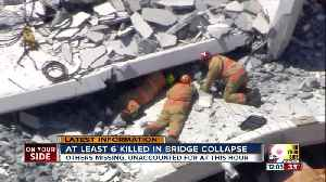 News video: At least 6 killed in bridge collapse