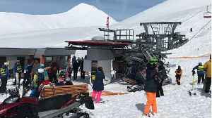 News video: Chairlift rollercoaster as 12 hurt in Georgian resort accident